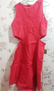Dress butas gilid (4 to 6yrs old)