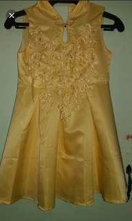 Chinse dress yellow(3 to 6yrs old)