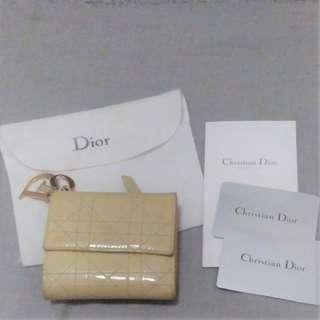 """AUTHENTIC DIOR """"LADY DIOR CANNAGE"""" QUILTED PATENT LEATHER WALLET - [PREORDER ITEM]"""