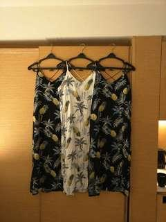 Tropical maxi slit dress