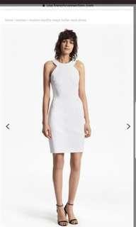French Connection $259 white crepe dress