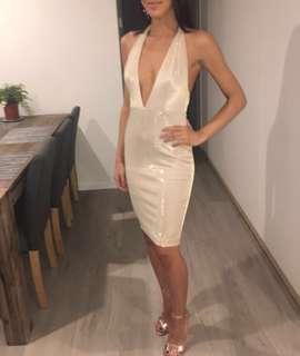 Meshki Zaria dress gold