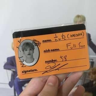 [pending] nct dream we go up haechan crew card