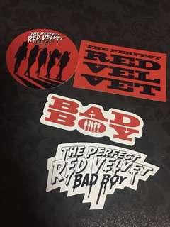 Includes free normal mail! Instock Official the perfect red velvet bad boy sticker set // Irene yeri Wendy seulgi joy