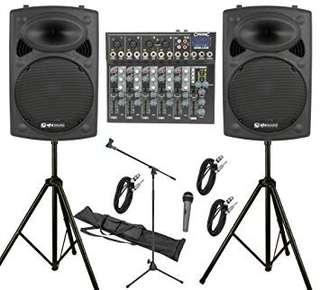 PA.system for rent.