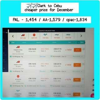 Air Ticket - Clark to Cebu