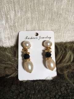 Elegant Pearl Clip Earrings
