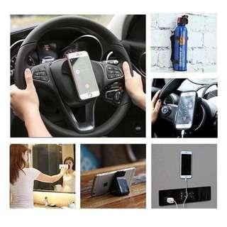 🚚 🤟🤟萬能懶人隨手貼創意多功能車載手機桌面強力支架吸盤式硅膠手機架 🤟🤟  現貨!!現貨!!  一個40元  走到哪,看到哪  連開車都方便喔❤️