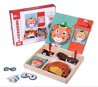 Magnetic Wooden Educational Puzzle