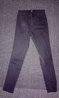 LEE Rider Mid-Waist Black Skinny Jeans AUS 7