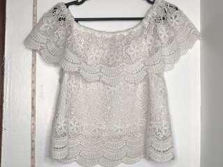 WHITE LACE CASUAL BEACH TOP