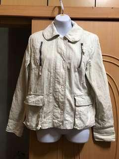 🚚 GOZO米白色外套 3號約L號
