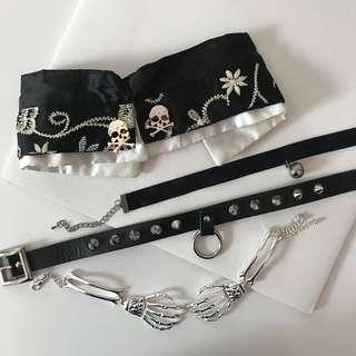 Intense grunge choker collar sale