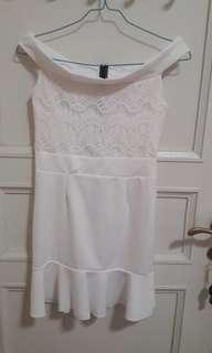 NEW WHITE SABRINA LACE DRESS