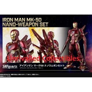 [PO] Bandai S.H.Figuarts SHF Marvel Avengers: Infinity War - Iron Man Mark L Mark 50 Mk-50 Nano-Weapon Set