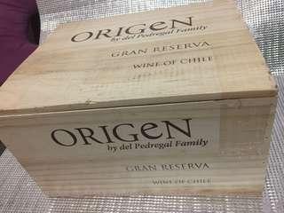 🚚 🍹裝紅酒的空木箱1個