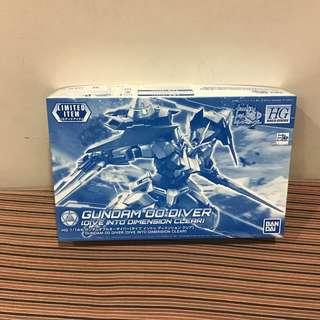 HGBD 1/144 Gundam Double 0 Diver Dimension Clear Ver.
