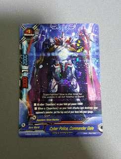 Buddyfight - Cyber Police, Commander Gale Rare Card