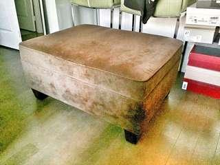 The Bay Suede Ottoman