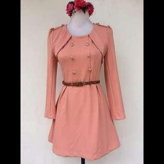 Elegant Peach Dress