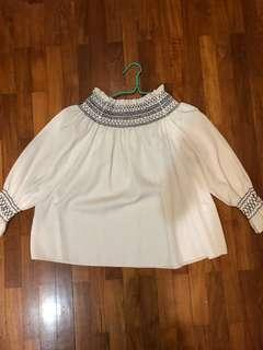 🚚 White Off-Shoulder Long Sleeve Top