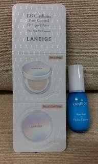 Laneige BB Cushion Pore Control & Hydro Essence