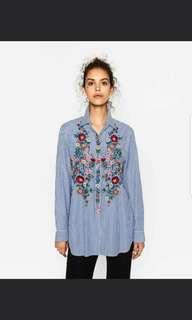 BN Zara Shirt Size XS Oversized fits S