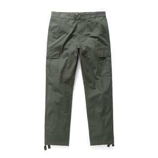 NAVY 口袋工裝長褲 多口袋 工作褲 軍綠 cargo aviation pants 類似CARHARTT