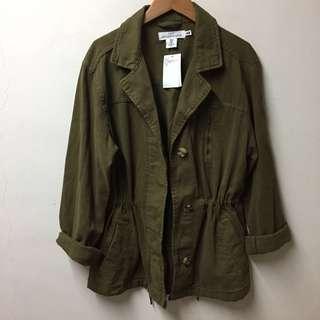 原價1699全新H&M 軍裝縮腰軍裝外套