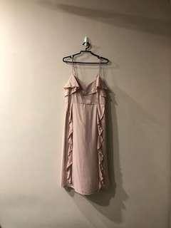 The editor's market blush pink dress