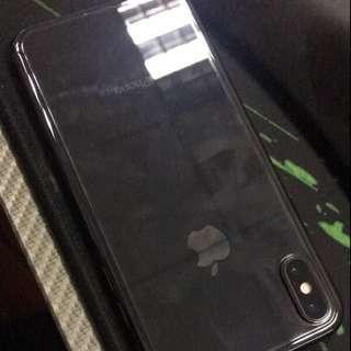 iPhone X XS 背貼 玻璃 保護貼 防花