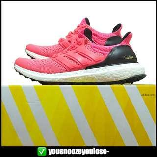🔥UNDER RETAIL🔥 ADIDAS ULTRA BOOST ULTRABOOST 1.0 FLASH FLARE RED / PEACH SALMON PINK