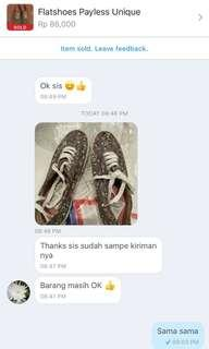 Testimoni cust for Cute shoes👌🏻