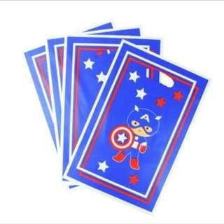 Superheroes Cartoon Capt America party supplies - party loot bags / piñata bags / goodie bags