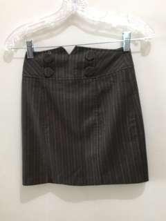 Office Skirt Brown