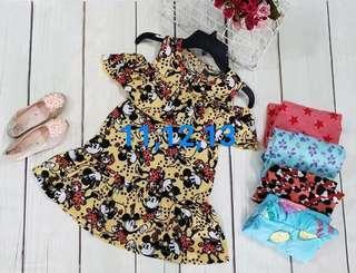 Minnie dress ready stock size 11,12,13