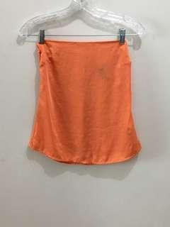 H&M Satin Tube Top Orange
