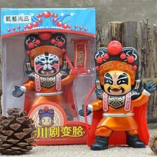 四川 變臉公仔 玩具 TVB街坊廚神 小儀 金剛果款