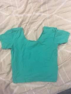 American Apparel teal cropped tshirt size medium