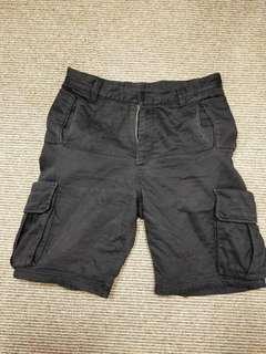TAKI 32腰重磅黑色五分褲
