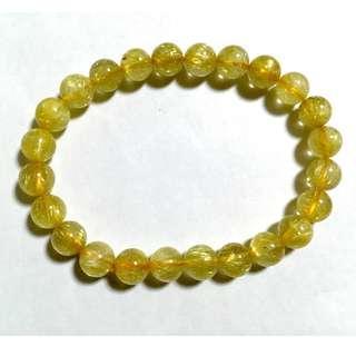 黃晶水晶手珠鏈