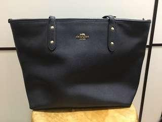 Coach navy shoulder bag