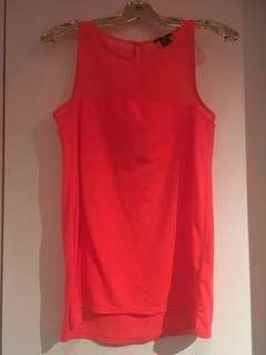 Women's Corel H&M top with mesh neckline