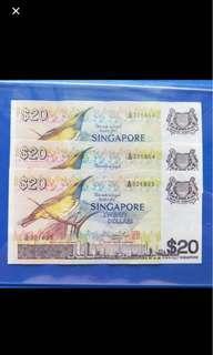 Bird series $20 3 run