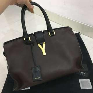 REPRICE !!!! CRAZY DEAL! Like New Saint Laurent (YSL) Cabas Chyc Medium Leather Shopper (Branded) (Authentic) (Tas Wanita)