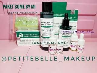 [SHARE] PAKET HEMAT!! -  SOME BY MI AHA BHA PHA 30 Days Miracle CLEANSING BAR + TONER + SERUM