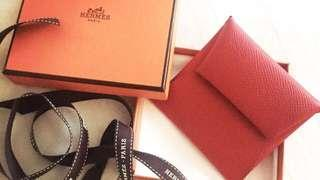 Authentic Hermes Bastia coin purse/wallet