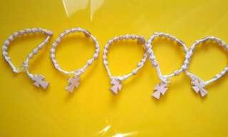 White Bracelet Rosaries