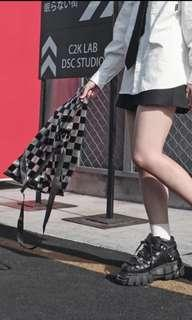 Grunge Checkered Tote Bag