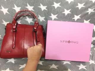 🚚 Spring 酒紅色手提包